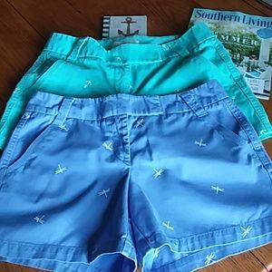 Bundle 2 J.Crew chino broken in shorts